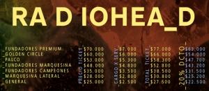 valores entradas radiohead en chile